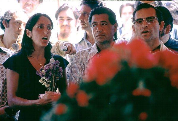 Cesar Chavez and Joan Baez