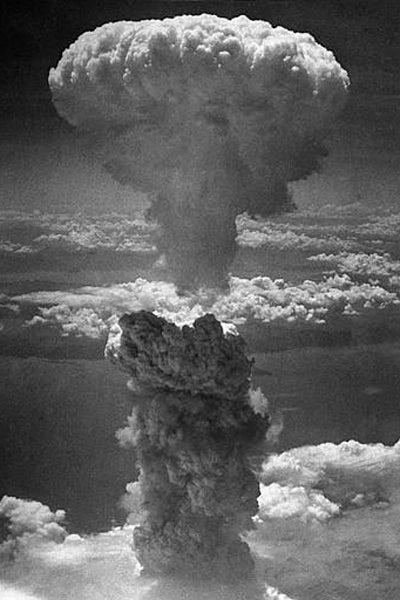 atomic bomb over Nagasaki