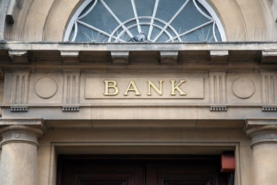 facade of bank building / Kevin George/Shutterstock
