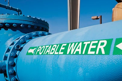 potable water tank / Courtesy Stanford Woods Institute
