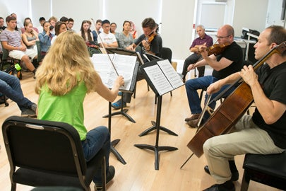 St. Lawrence String Quartet performs in student residence / L.A. Cicero