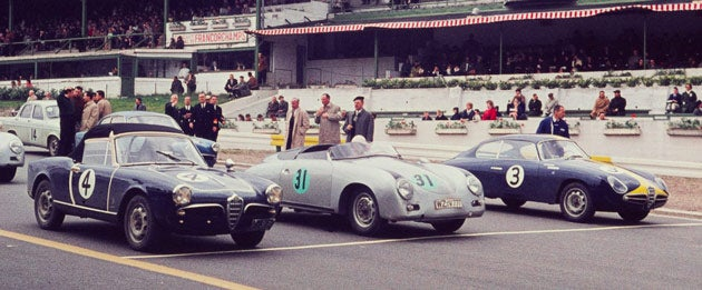 Starting grid of Grand Prix de Spa Grand Touring Race, 1959