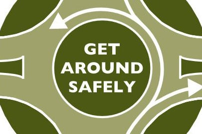 roundabout graphic / Courtesy Parking & Transportation Services