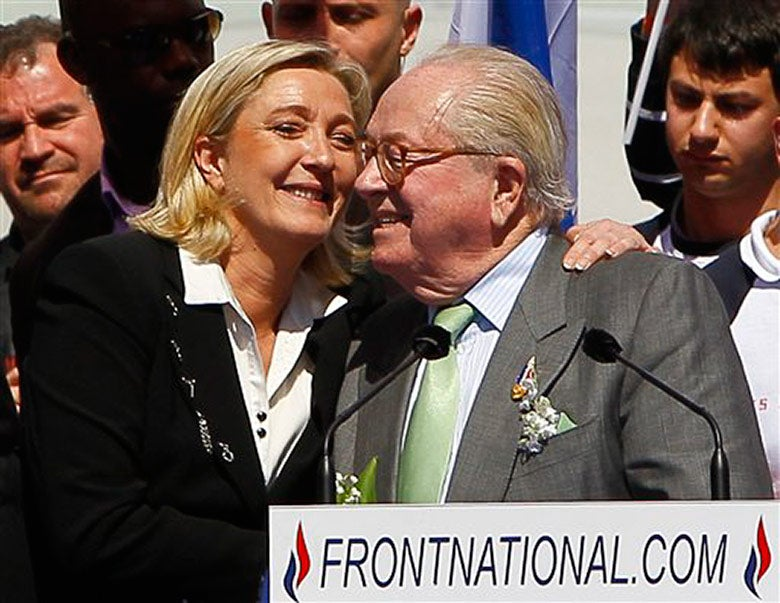 Marine and Jean-Marie Le Pen