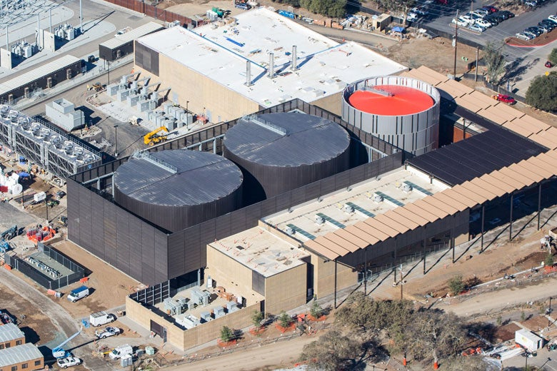 aerial view of Central Energy Facility in November 2014 as it nears completion/Todd Quam