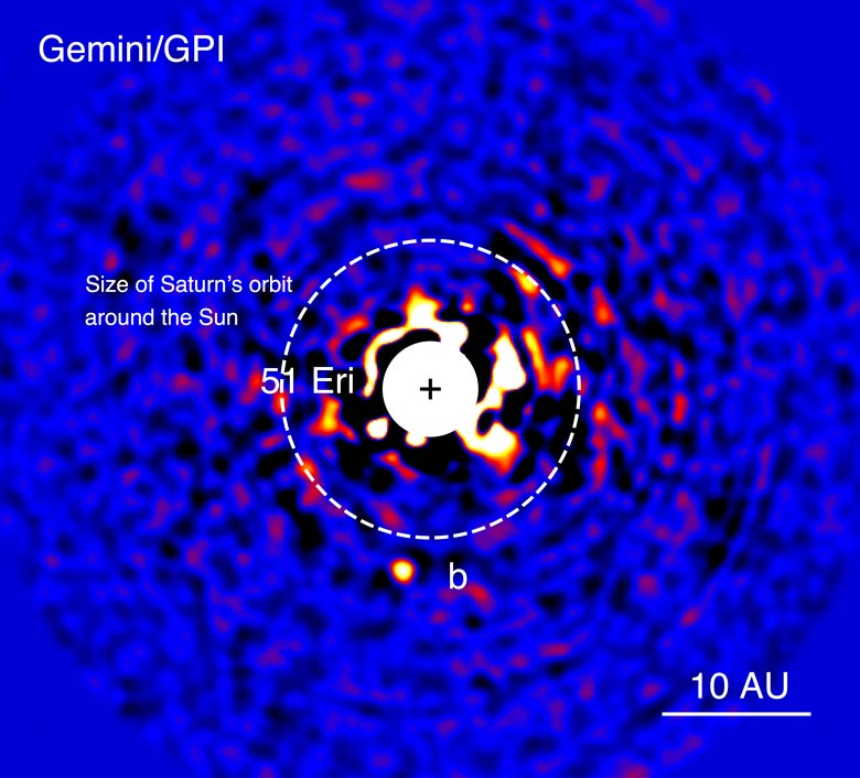 image of exoplanet 51 Eri b by Gemini Planet Imager