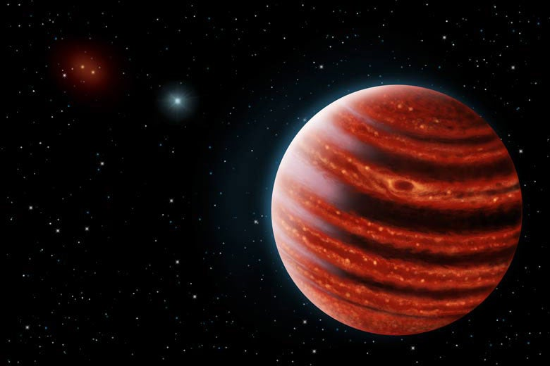 artist's conception of Jupiter-like exoplanet 51 Eri b