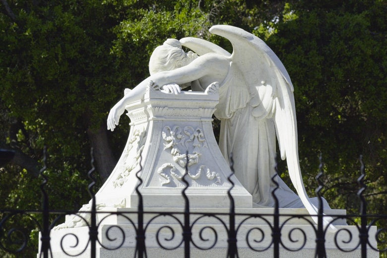 Angel of Grief sculpture