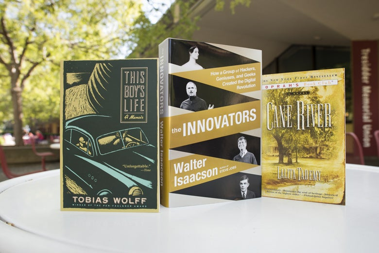 display of the three books in the summer reading program