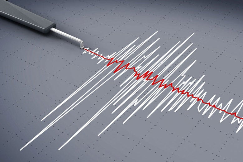 Graph showing seismic activity