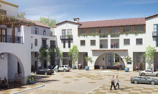 Artist's rendering of the Colonnade apartment complex