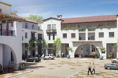 Artist's rendering of the Colonnade apartment complex/Photo courtesy of the Colonade