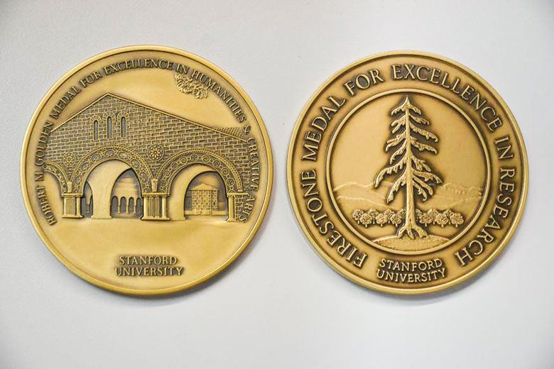Golden and Firestone medals /  Courtesy Undergraduate Advising and Research