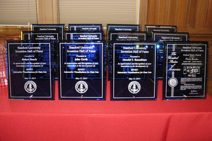 Invention Hall of Fame award plaques / Linda Chao