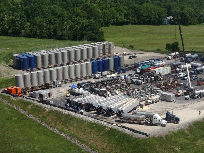 Fracking operation in Pennsylvania