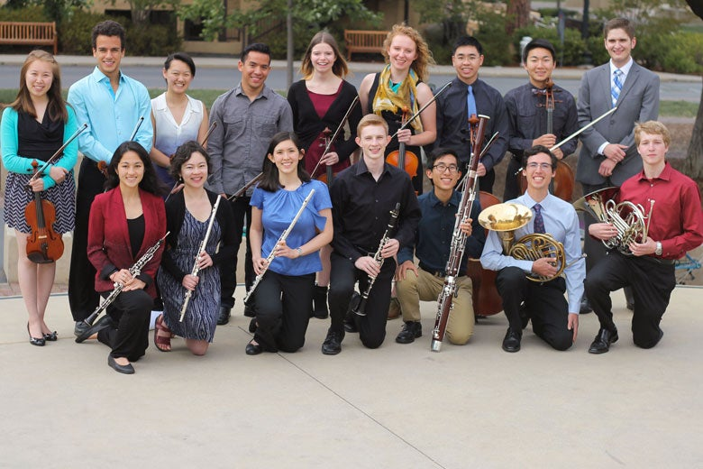 members of the Stanford Conductorless Orchestra / Allison Semrad