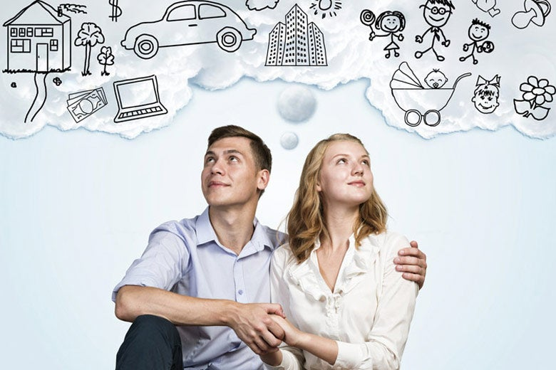 Parents-to-be imagining future
