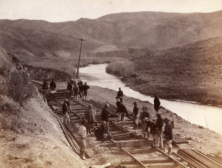 Chinese railroad laborers