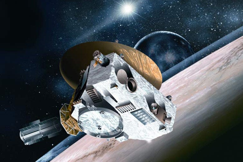 Spacecraft approaching Pluto