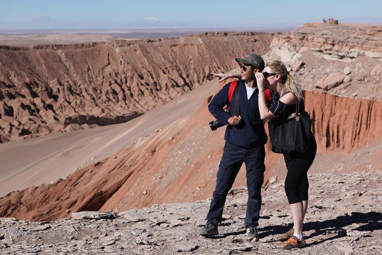 Stanford MBA students explore the Atacama Desert on a trip to Chile