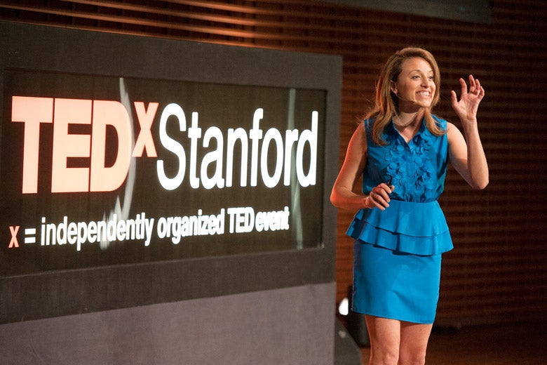 Graduate student Alli McKee speaking at TEDxStanford / Photo: L.A. Cicero