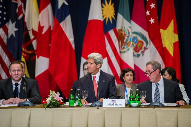 Secretary of State Kerry at TPP meeting