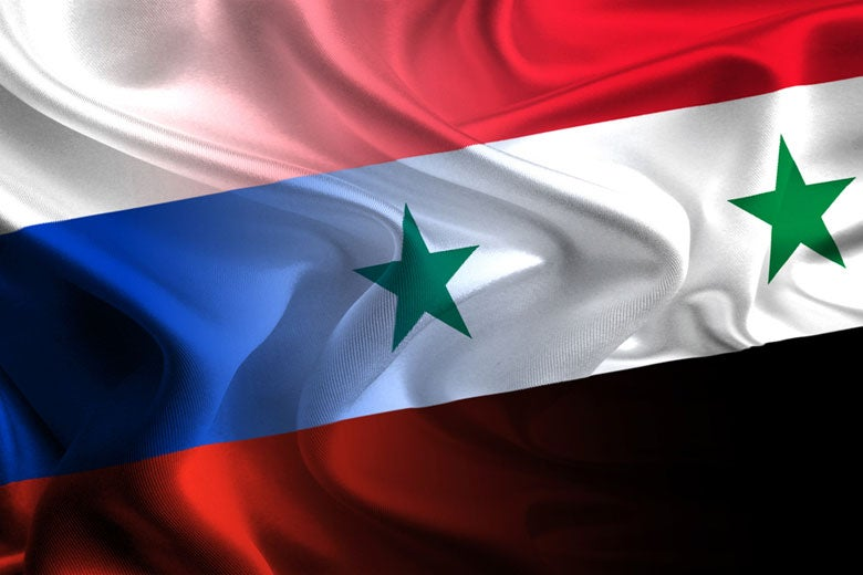 flags of Russia and Syria waving together / eXpose/Shutterstock