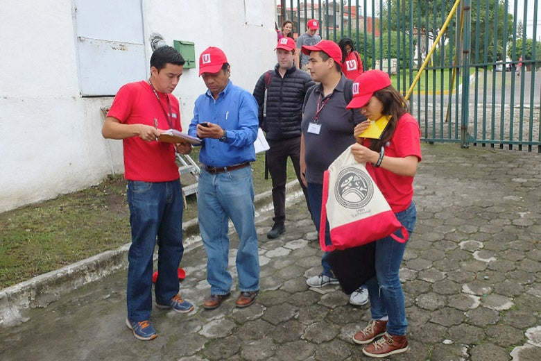 Students engaging fieldwork in Puebla