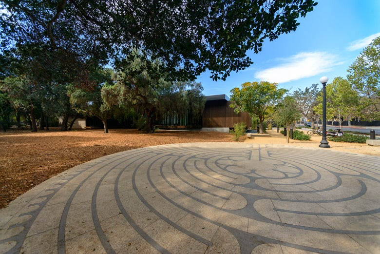 labyrinth at Windhover contemplative center / L.A. Cicero