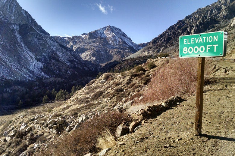 nearly snowless Tioga Pass in Sierra Nevada / Bartshé Miller