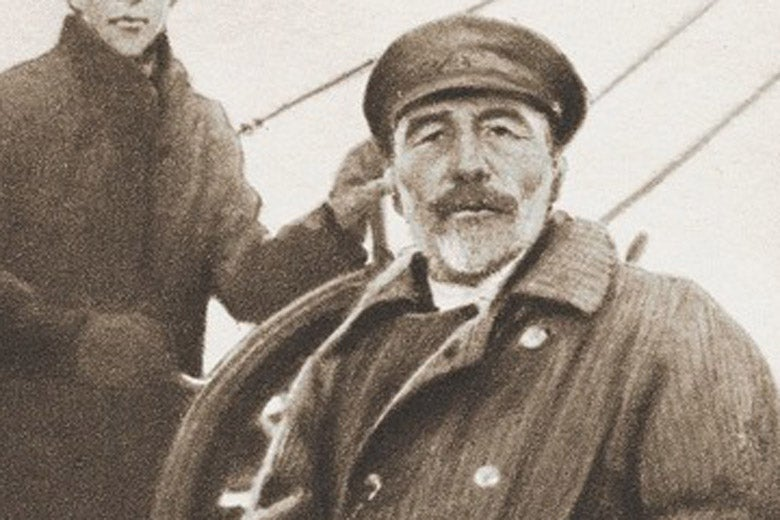 Joseph Conrad seated on deck of a ship. / Photo: Beinecke Rare Book and Manuscript Library, Yale