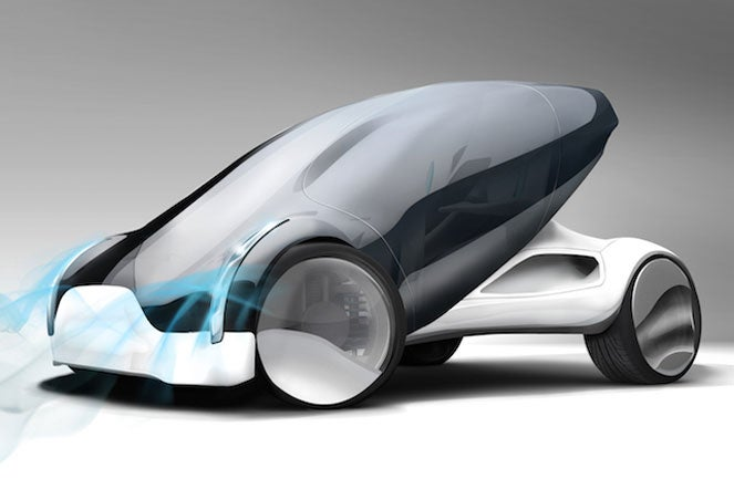 rendering of a futurisic automobile
