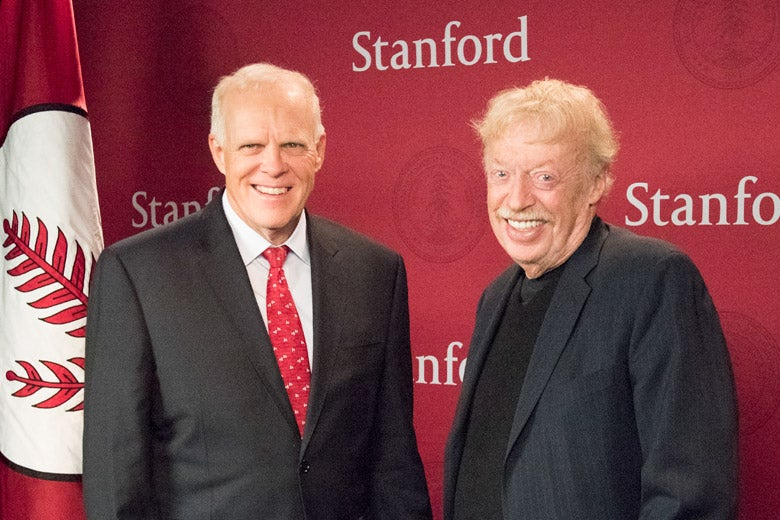 John Hennessy and Phil Knight
