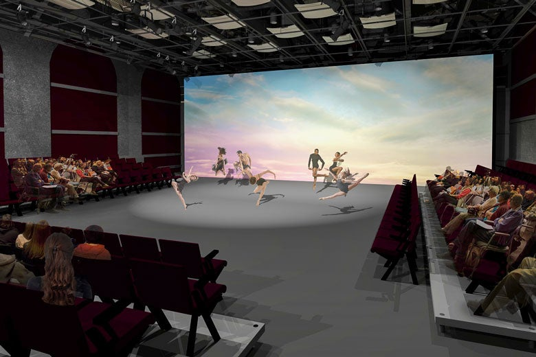architect's rendering of theater in Roble Gym / Courtesy Cody Anderson Wasney Architects