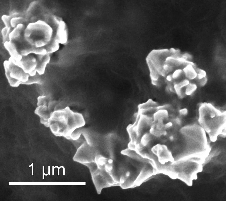 nanoparticles of graphene-coated nickel