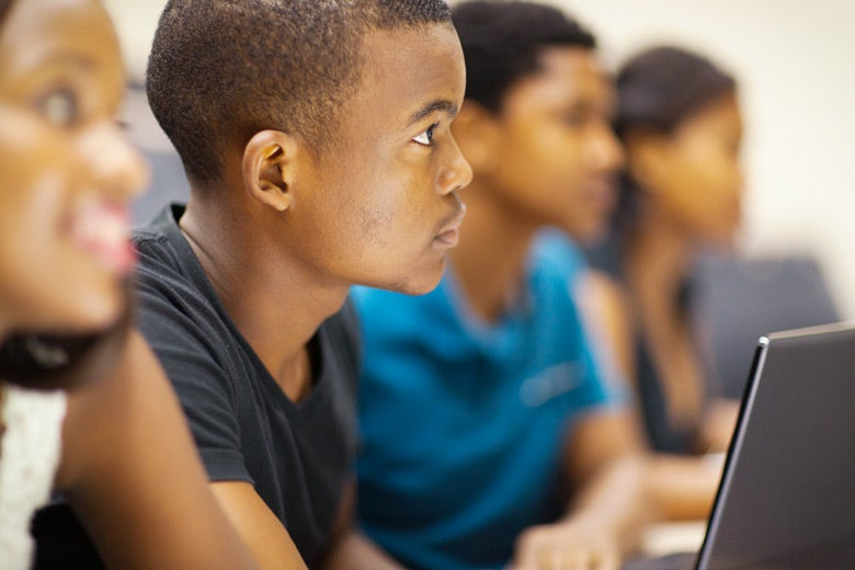 African American students in classroom / michaeljung/Shutterstock