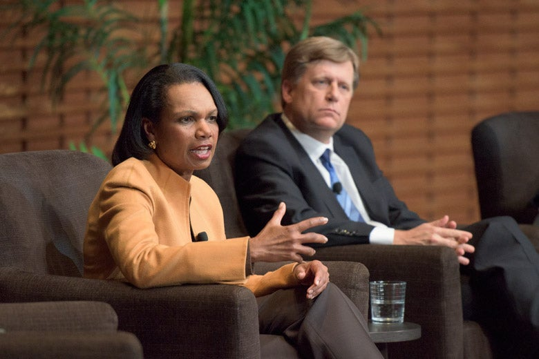 Condoleezza Rice and Michael McFaul