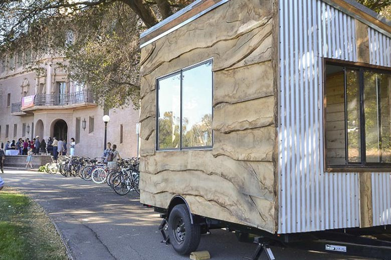Mobile art studio on wheels